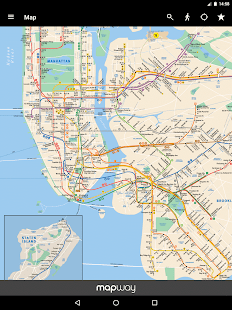 New York Subway Official MTA Map Of NYC Android Apps On Google - Nyc map