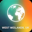 West Midlands, UK Offline Map icon