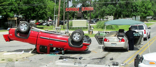 Photo: Bad accident just outside of the park.