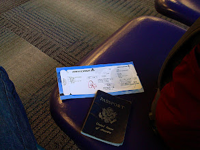 Photo: at the airport...ticket, passport
