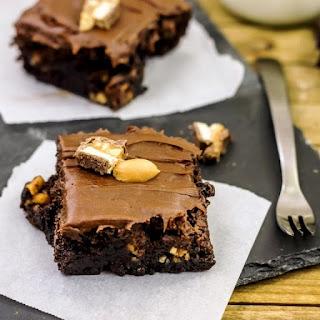 Easy Snickers Brownies.