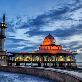 Al Hussain Mosque  by Azry Azmy - Buildings & Architecture Places of Worship