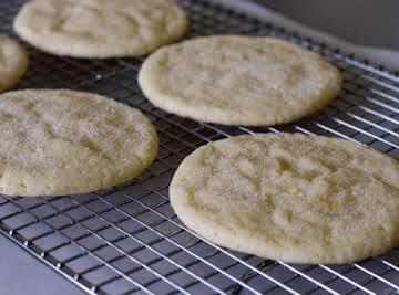 Giant Lemon Sugar Cookies - real lemon