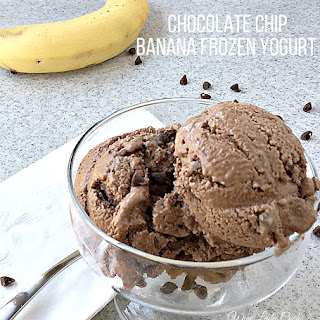 3 Ingredient Chocolate Chip Banana Frozen Yogurt.
