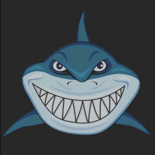 Angry Shark Color By Number Hungry Fish Pixel Art Google Play De