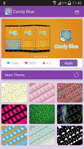 Emoji Keyboard-Candy Blue