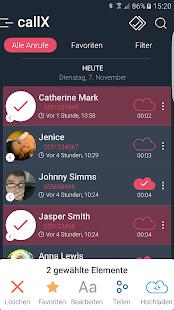 Automatische Aufnahme / Anruf Aufzeichnen - callX Screenshot