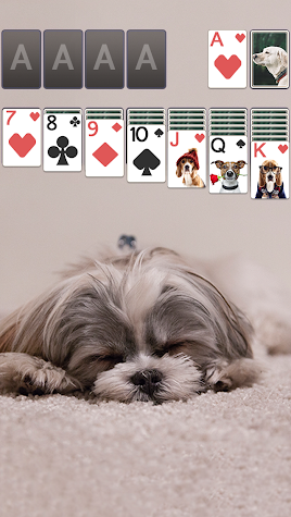 Solitaire Cute Puppies Theme Screenshot