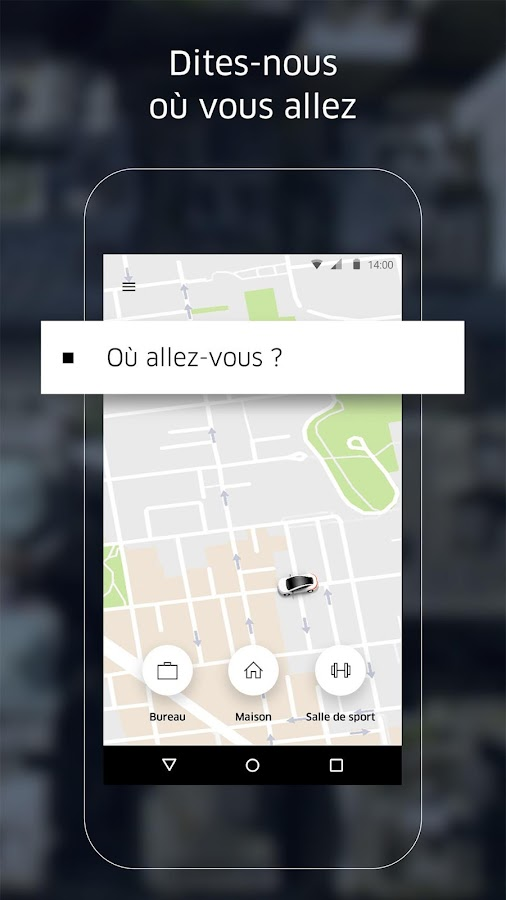 Uber – Capture d'écran
