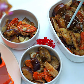 Japanese Eggplant Carrots & Shiitake Mushrooms