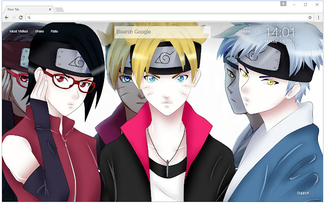Boruto Wallpapers Custom Naruto Anime New Tab