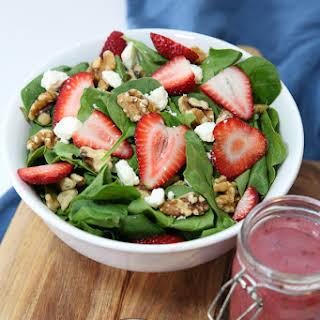Strawberry Balsamic Vinaigrette Salad Dressing.