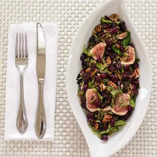 Mixed Green Farro Salad And Fresh Figs.