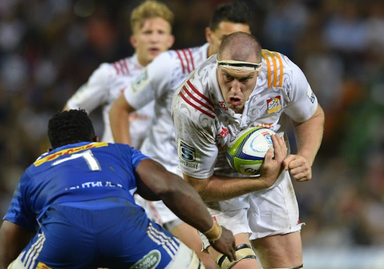 Brodie Retallick of the Chiefs during the Super Rugby match against the DHL Stormers at Newlands on April 08, 2017 in Cape Town, South Africa.