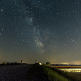 SkyFast by Bob White - Landscapes Starscapes ( lights, milkyway, stars, universe, longexposure, milky way,  )