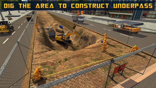 Mega City Underpass Construction: Bridge Building 1.0 screenshots 9