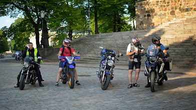 Photo: In Turku on our way to the harbour.