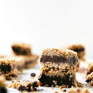 Healthier Chocolate Peanut Butter Oatmeal Fudge Bars