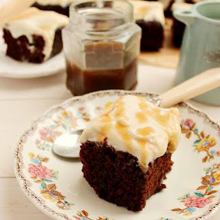 Triple Irish Cream Chocolate Caramel Cake