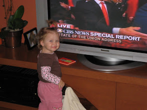 Photo: Leah's early interest in politics