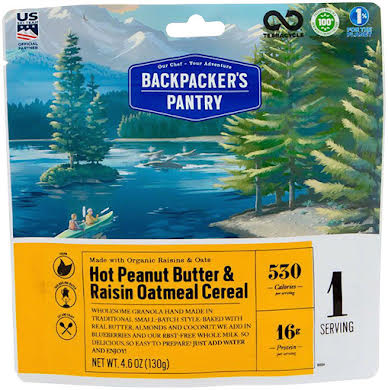 Backpackers Pantry Organic Peanut Butter and Raisin Oatmeal Hot Cereal: 1 Serving alternate image 1