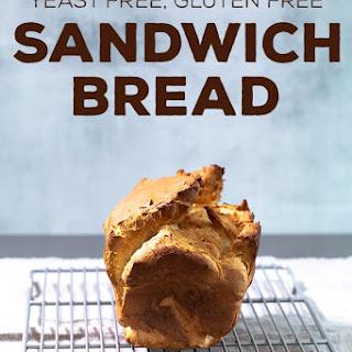 Yeast Free Gluten Free Bread for Sandwiches.
