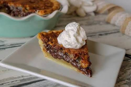 "Chocolate Bourbon Pie ""Rich and decadent, this chocolate bourbon pie is amazing...."