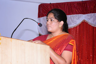 Photo: Delegate Smt. Sirisha sharing her views with the co-participants