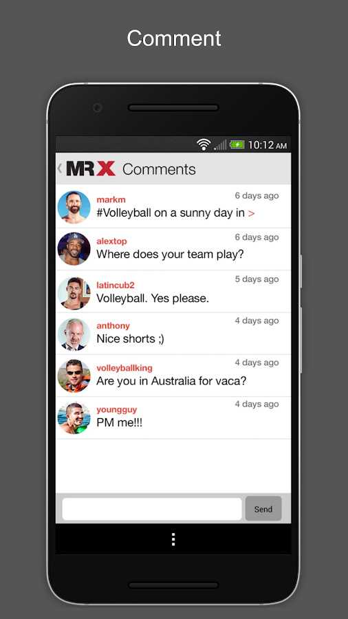MR X is the first and only gay chat and gay dating app for men over The guys on MR X are real men: c