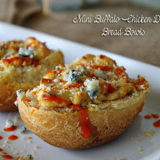 Mini Buffalo Chicken Bread Bowls