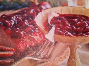 Cherry Pepper Port Sauce w/ Roast Pork Loin
