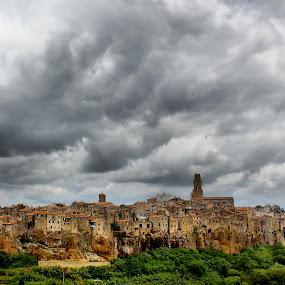 ~pitigliano~ by Kirk Kimble - City,  Street & Park  Vistas ( old, italian, ancient, village, town, italy, city )