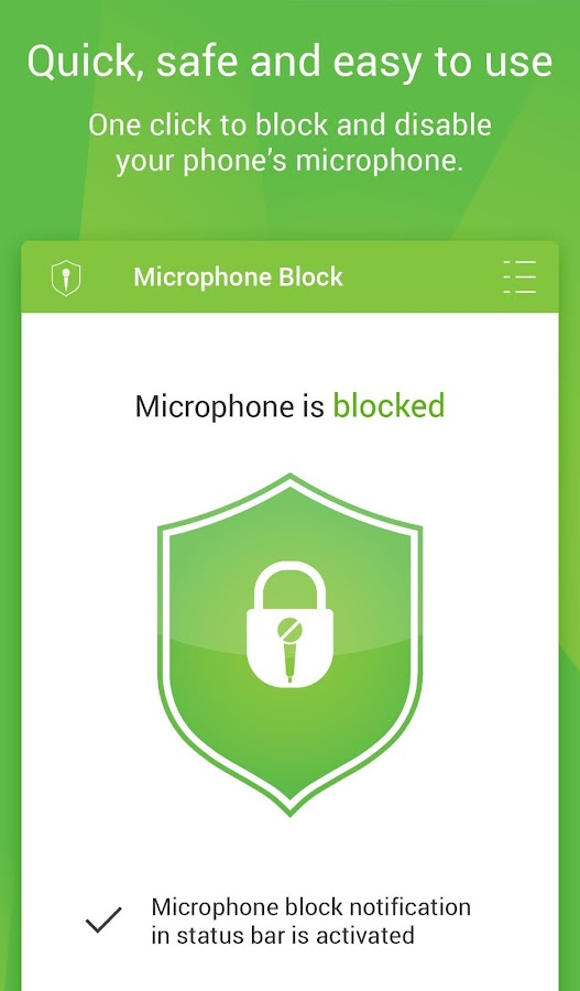 Microphone Block -Anti malware- screenshot