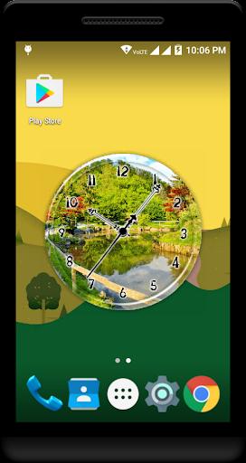 Garden Clock Live Wallpaper  screenshots 2