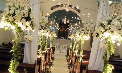 Church wedding decorations pictures images