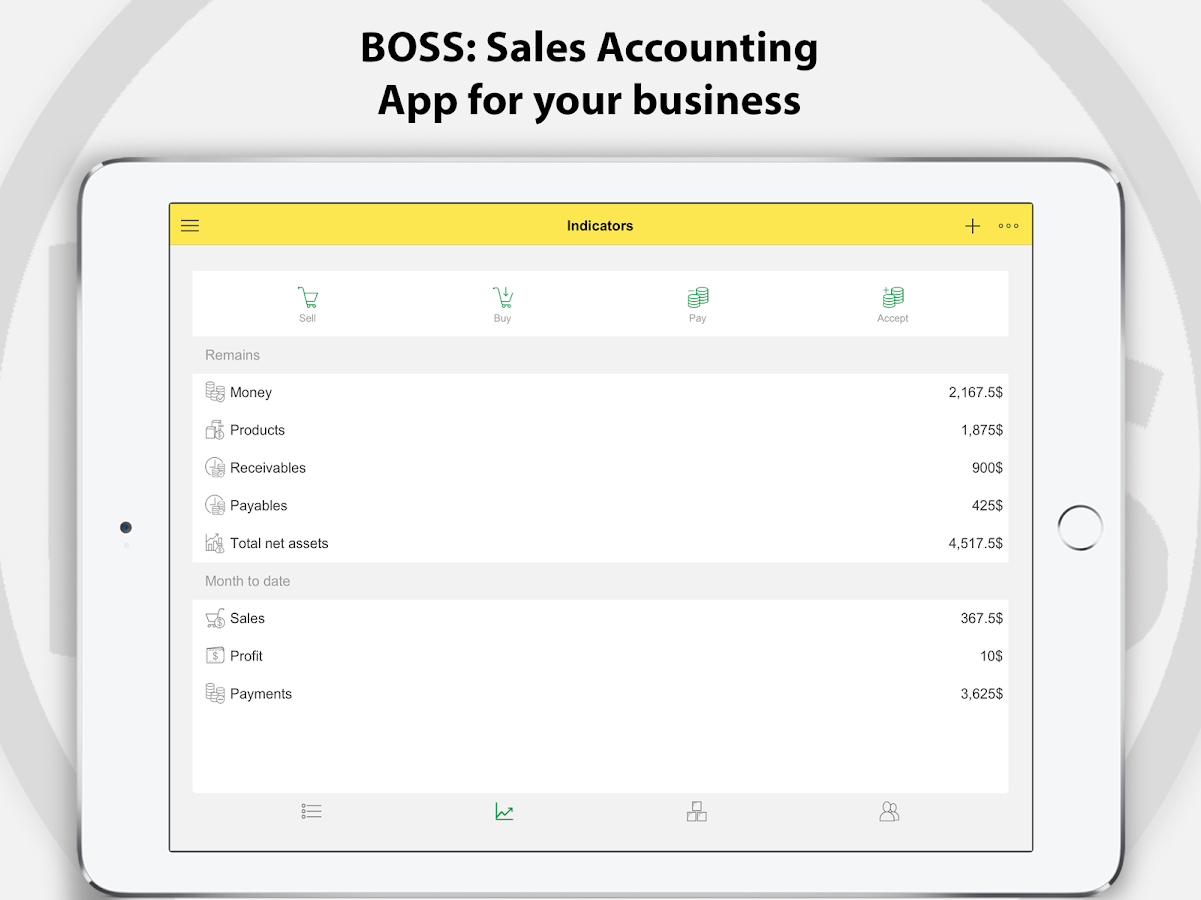 BOSS Accounting, Bookkeeping, Inventory management- screenshot
