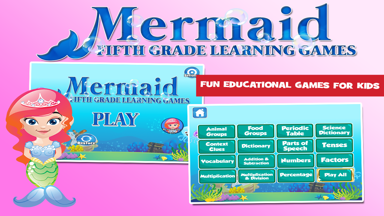 Fifth grade mermaid princess android apps on google play fifth grade mermaid princess screenshot urtaz Images