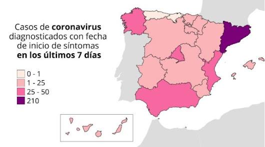 Mapa de España: cerca de 60 rebrotes de coronavirus en 15 comunidades