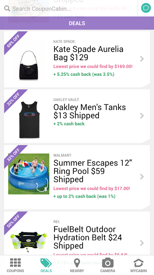 coupon cabin app