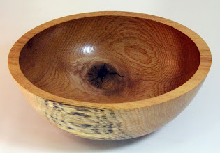 "Photo: Gary Guenther 3 1/2"" x 9 1/2"" bowl [red oak]"