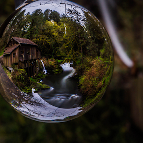 Grist Mill Globe by James Case - Landscapes Waterscapes ( mill, nature, ceedar creek, grist mill, landscape, historic,  )
