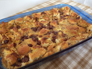 Cranberry Eggnog Bread Pudding Recipe
