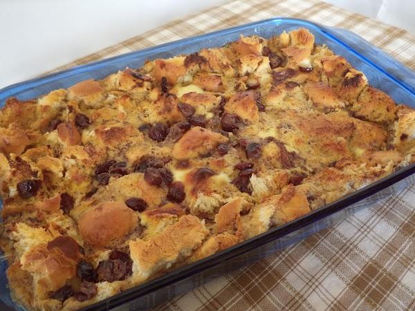 Cranberry Eggnog Bread Pudding Recipe
