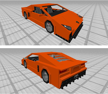 Sports Car Lamborghini Add-on Minecraft MCPE - náhled