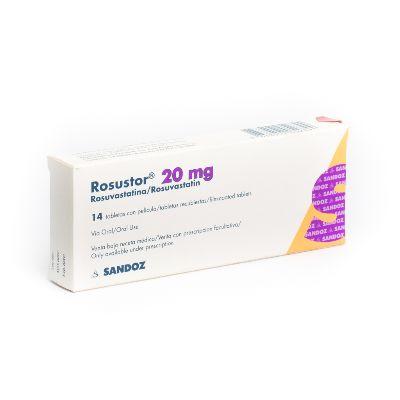 rosuvastatina rosustor 20mg 14tabletas sandoz