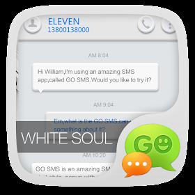 GO SMS PRO WHITESOUL THEME