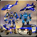 US Police Robot War Multi Robot Transformation icon