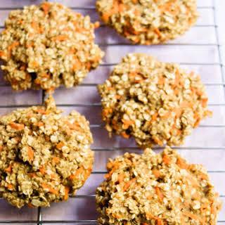 Healthy Oatmeal Carrot Breakfast Cookies.