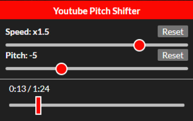 Youtube Pitch Shifter