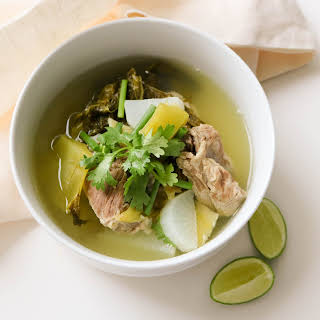 Pickled Cabbage And Pork Ribs Soup (tom-jeud-kra-dook-moo-pak-kad-dong)ธ.